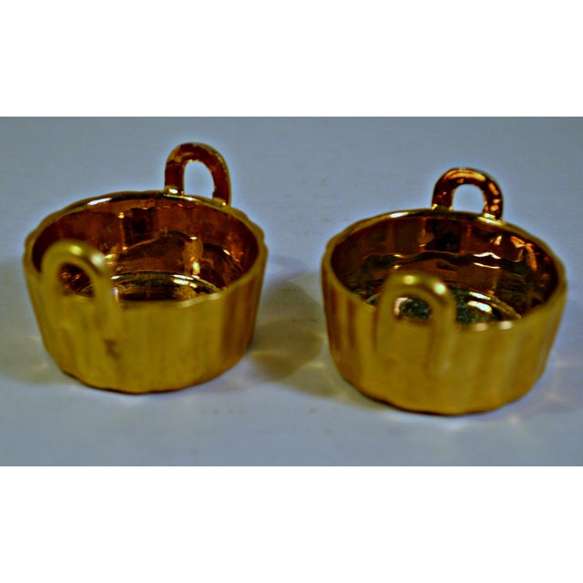 Ceramic A Pair of Antique Nippon Porcelain Open Salt Cellar For Sale - Image 7 of 8