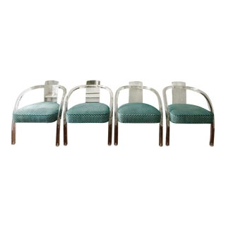 Charles Hollis Jones Lucite Chairs - Set of 4 For Sale