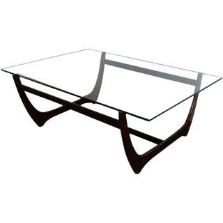Danish Modern Jacaranda and Glass Coffee Table by Børge Mogensen For Sale