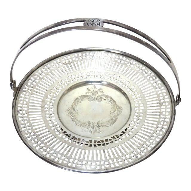 Antique Sterling Silver Mint - Candy Serving Basket For Sale