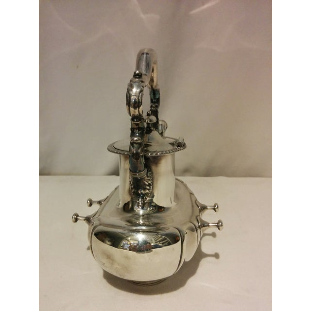 American Silverplate Teapot w/ Stand & Burner - Image 7 of 11