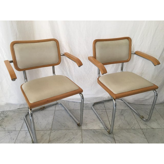 Italian Chrome Cantilever Chairs - Set of 4 For Sale - Image 5 of 10