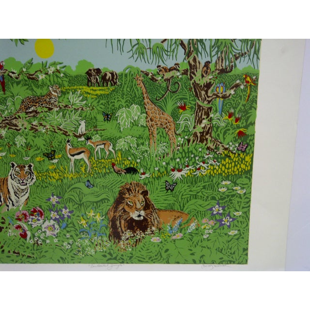"Miriam Ecker Signed Numbered (123/275) ""Enchanted Jungle"" Print For Sale - Image 4 of 8"