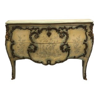 Mid 20th Century Hollywood Regency Style Painted Commode For Sale