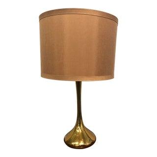 Mid-Century Brass Laurel Lamp