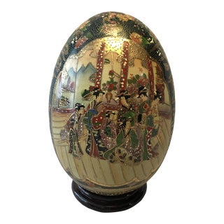 Large Satsuma Egg With Stand For Sale