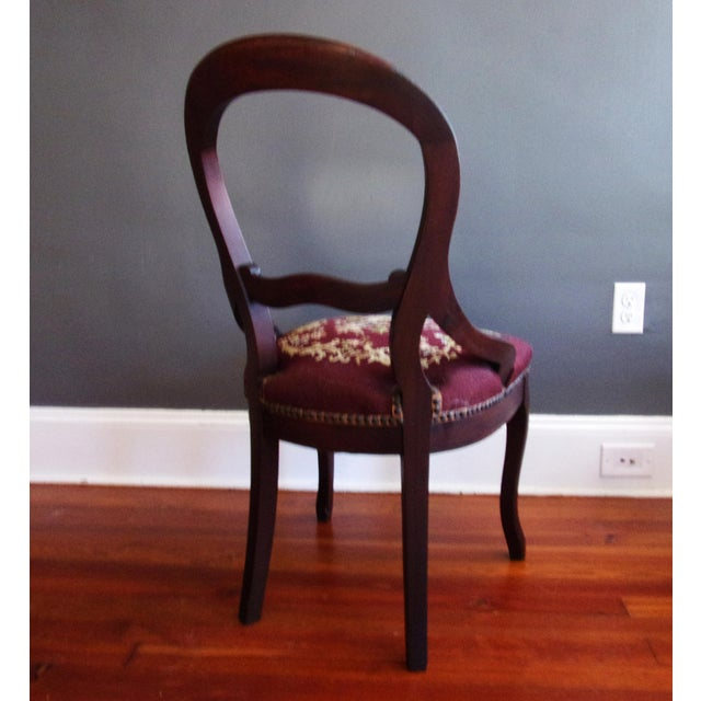 Farmhouse Late 19th Century Victorian Carved Mahogany Balloon Back Chair For Sale - Image 3 of 9