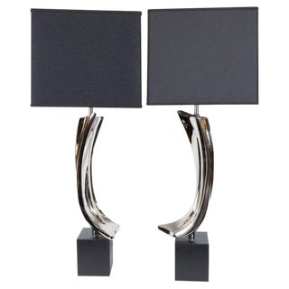 Mid-Century Harold Weiss & Barr Brutalist Table Lamps for Laurel Lamp Co. - a Pair For Sale
