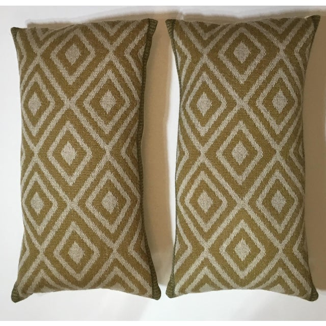 Vintage Geomtic Motif Pillows - A Pair - Image 3 of 9