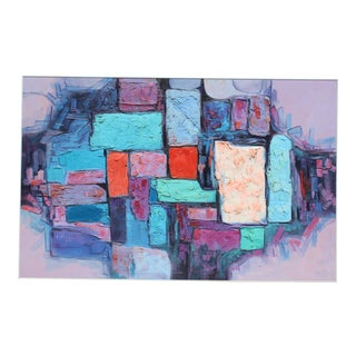 Mid Century Modern Abstract Collage For Sale