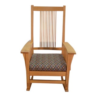 Stickley Mission Oak Arts and Crafts Rocking Chair For Sale