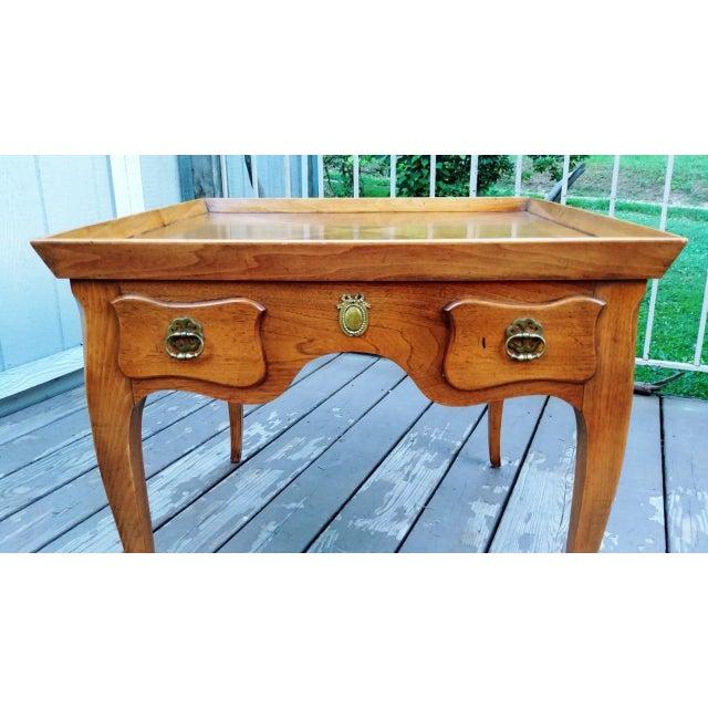 Metal 20th Century Regency Baker Furniture Milling Road One Drawer End Table For Sale - Image 7 of 13