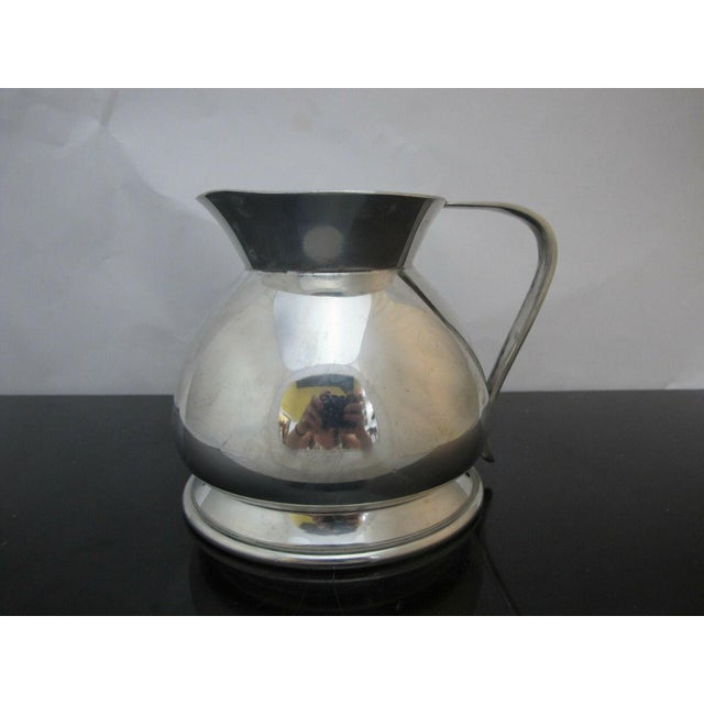 Metal Modernist Brooks Brothers Silver Plate Water Pitcher W1814, England For Sale - Image 7 of 7