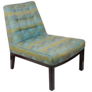 1950s Vintage Dunbar Slipper Chair For Sale