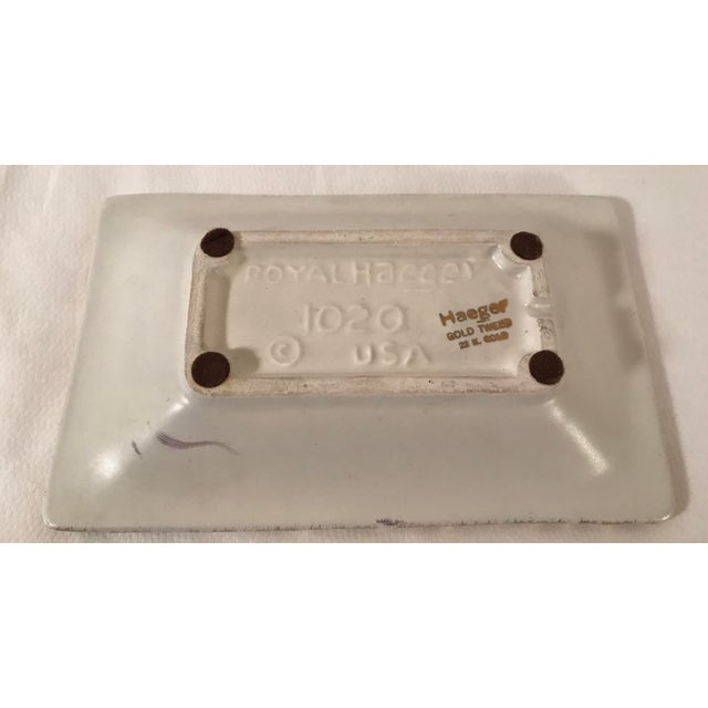 Metal Vintage Mid-Century Royal Haeger 22k Gold Tweed Ashtray For Sale - Image 7 of 8