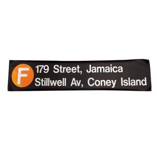 "1980s New York ""F"" Train Subway Sign"