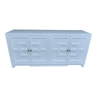 Asian Modern 4 Door White Key Cabinet For Sale