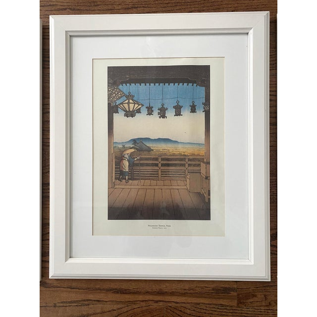Framed Japanese Woodblock Reproduction Prints After Kawase Hasui - Set of 3 For Sale - Image 4 of 13
