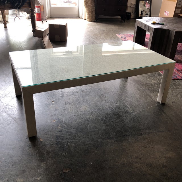Sunbrella Upholstered Custom Coffee Table For Sale In Washington DC - Image 6 of 8