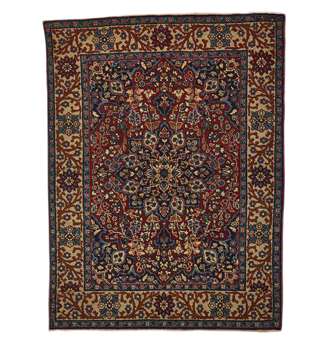 Superb Traditional Sivas Turkish Rug W Densely Patterned Medallion