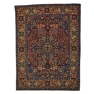 Traditional Sivas Turkish Rug W/ Densely Patterned Medallion Circa 1930s