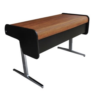 Midcentury Action Office Roll Top Desk George Nelson for H Miller For Sale