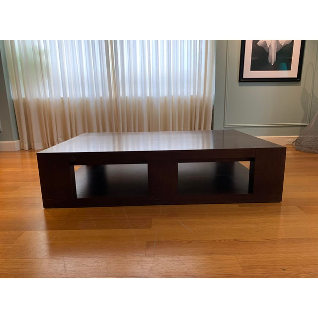 Christian Liaigre Contemporary Walnut Coffee Table For Sale - Image 13 of 13