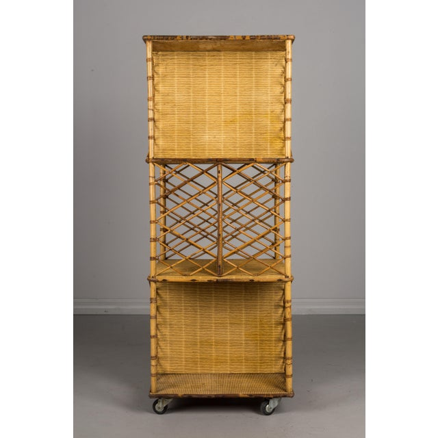 Bamboo Mid-Century French Riviera Bamboo & Rattan Bookcase For Sale - Image 7 of 11