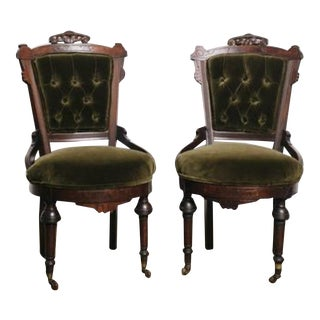 Antique Victorian Chairs - a Pair