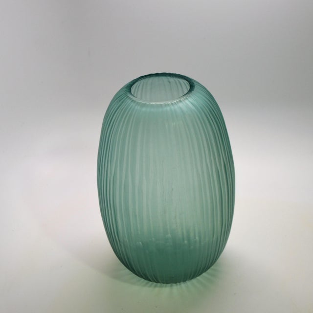 Bungalow 5 Bungalow 5 Small Gray Blue Moderni Vase For Sale - Image 4 of 9