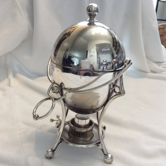 Antique Silverplate Egg Warmer For Sale - Image 5 of 7
