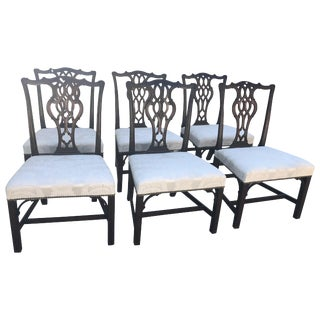 English 18th Century George III Mahogany Chippendale Dining Chairs - Set of 6 For Sale