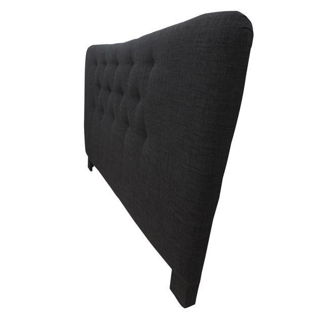 Curved Tufted King Headboard For Sale In Tampa - Image 6 of 6
