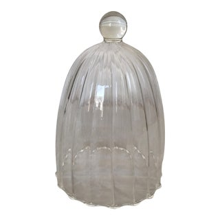 Ribbed Glass Bell Jar