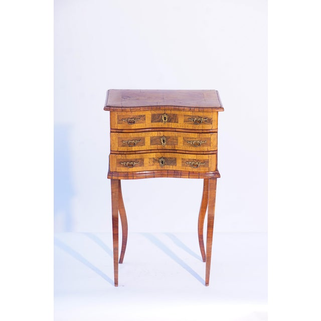 Italian 19th C. Italian 3-Drawer Side Table For Sale - Image 3 of 3