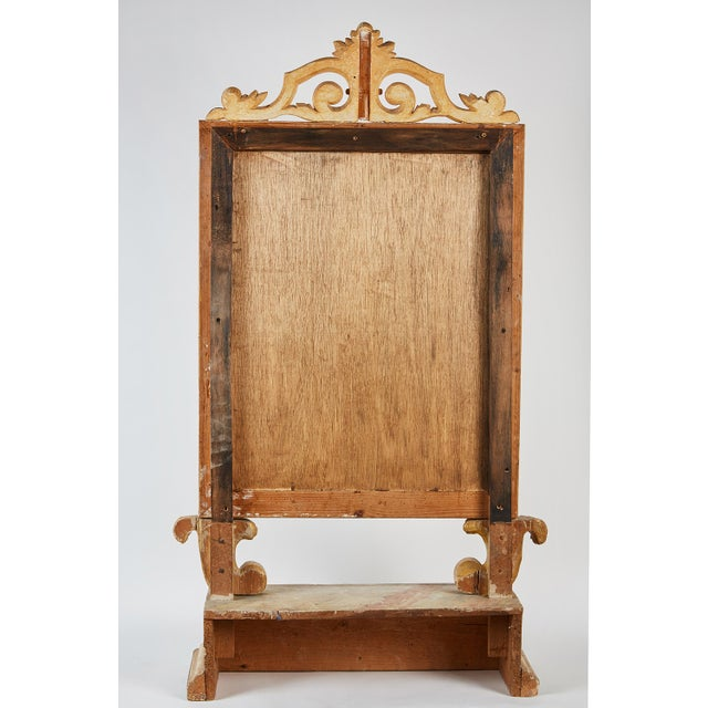 18th Century Italian Baroque Mirror with Faux Marble Base For Sale - Image 9 of 9