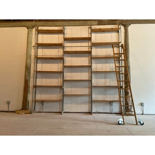 1980s Vintage Steel and Wood Racking Bookcase Preview