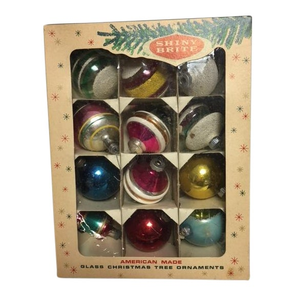Vintage Assorted Christmas Ornaments - Set of 12 - Image 1 of 8