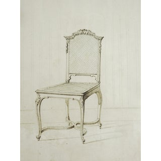 Louis XV Chair Drawing Circa 1800 For Sale