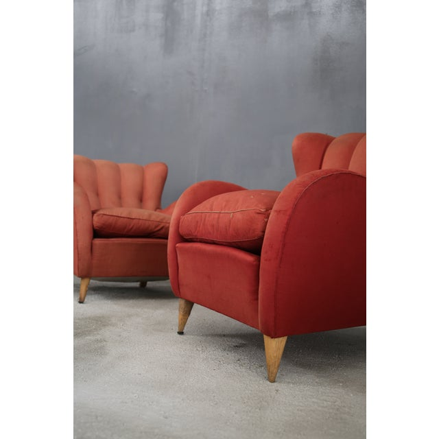 1940s Pair 40s Armchairs Attributed to Gio Ponti For Sale - Image 5 of 7