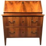 Image of 1820s Walnut Biedermeier Secretary Desk For Sale