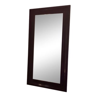 Vintage Purple Lacquered Floor Mirror For Sale