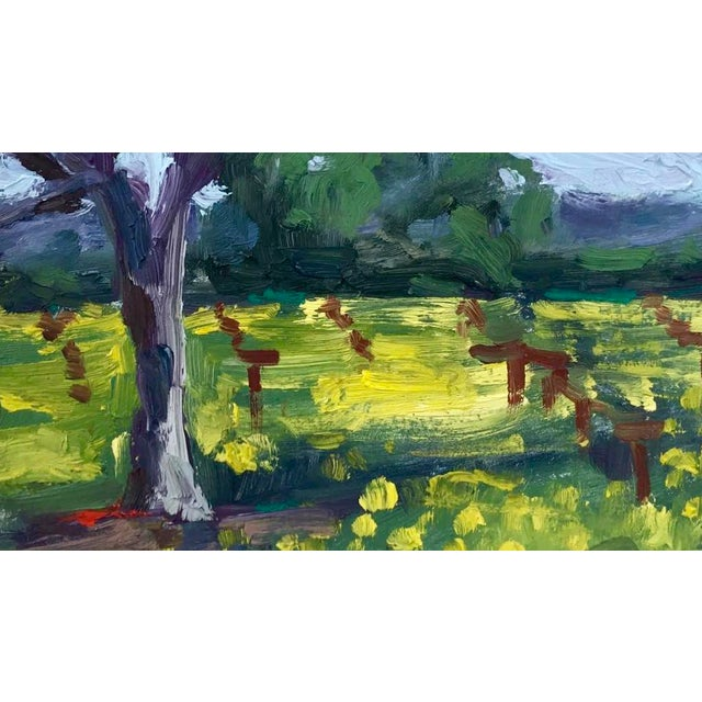 Suisun Valley Mustard Grass Original Landscape Oil Painting For Sale - Image 4 of 12