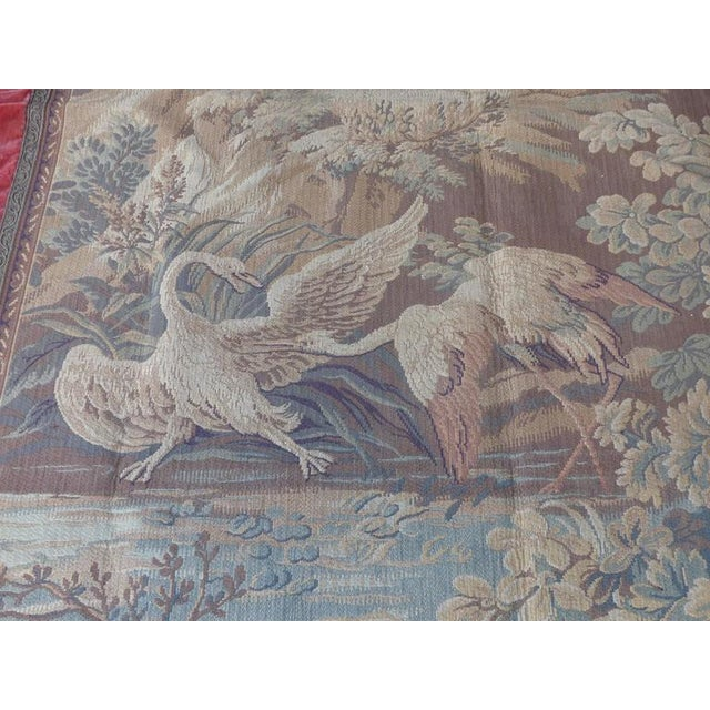 Blue Tapestry Wall Hanging, circa 1920s from a Historic South Florida Home For Sale - Image 8 of 11