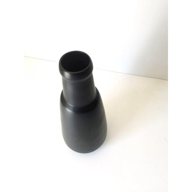 Modern Vintage Black Vase For Sale - Image 3 of 6