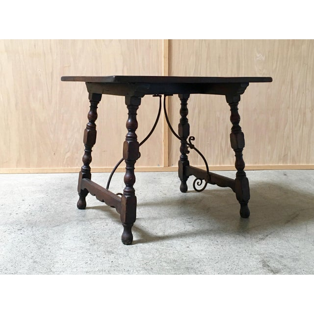 Early 20th Century Spanish Side Table For Sale - Image 9 of 9
