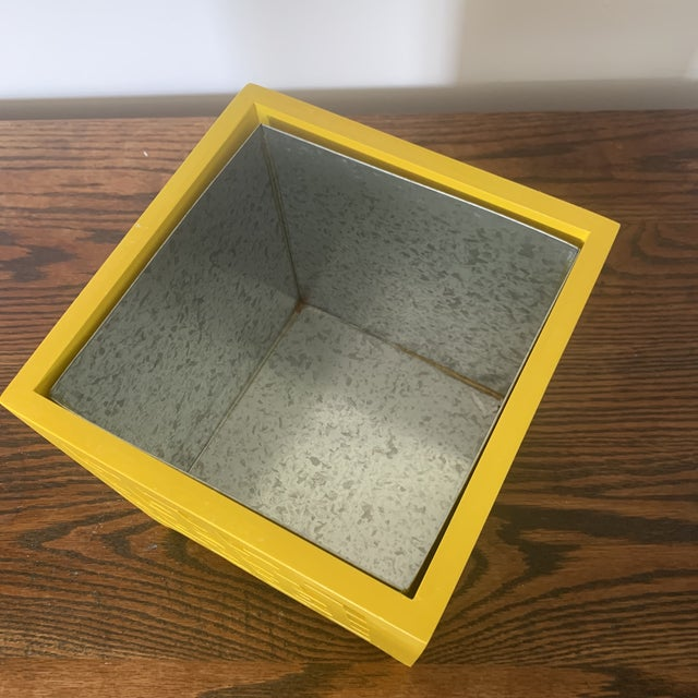 Modern Worlds Away Libby Yellow Planter For Sale - Image 3 of 4