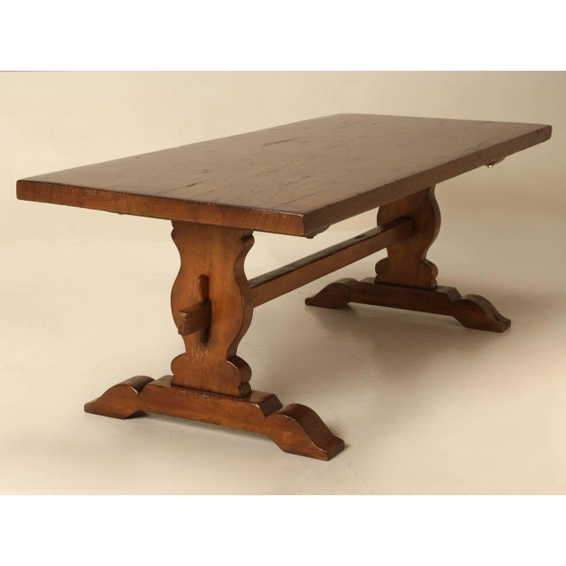 French Trestle Table in Solid Mahogany For Sale - Image 10 of 11
