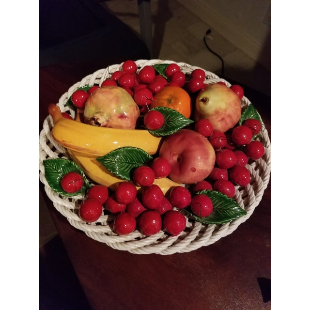 Red Capodimonte Fruit Platter For Sale - Image 8 of 8