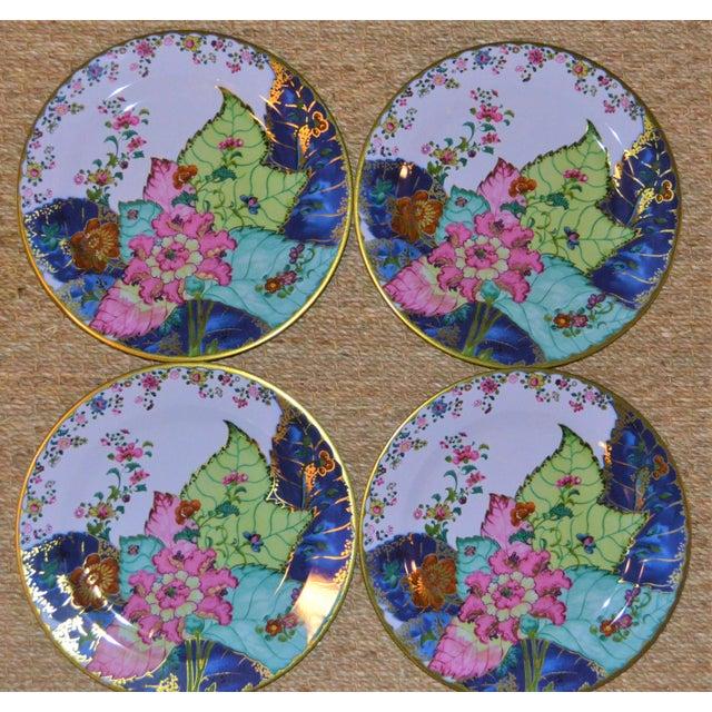 2010s Enamaled Tin Tobacco Leaf Plates - Set of 4 For Sale - Image 5 of 13